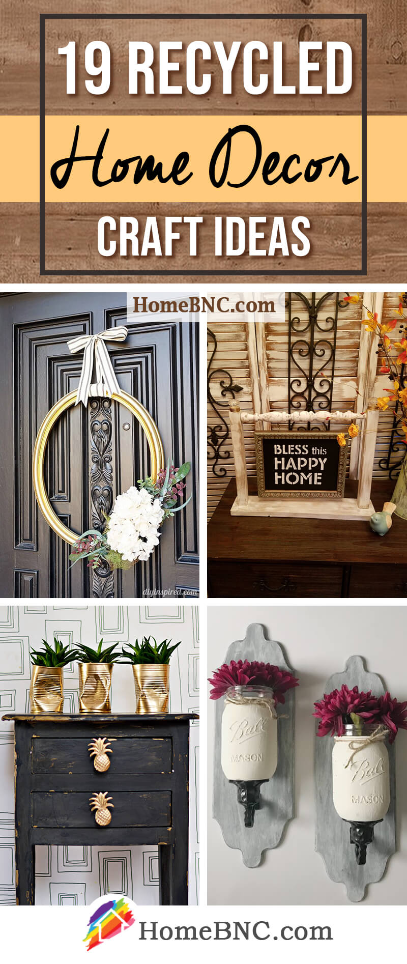 Recycled Home Decor Craft Ideas