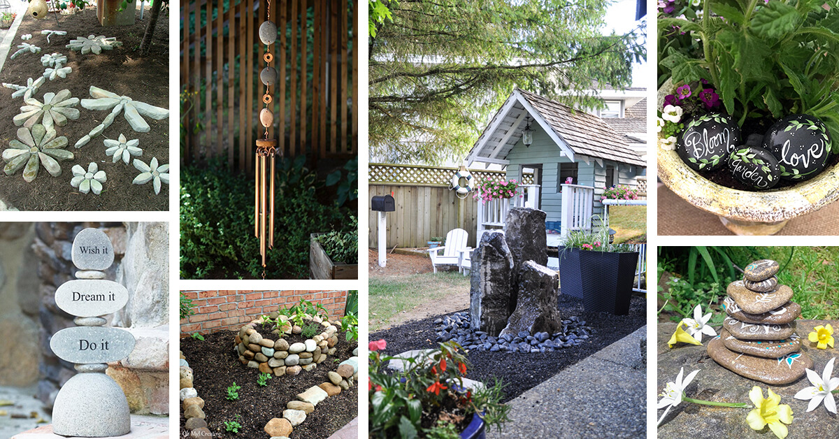 21 Best River Rock And Stone Garden Decorating Ideas For 2020