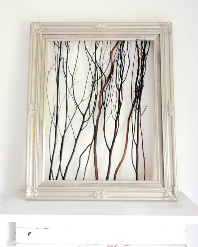 Frame Wood Twigs for Rustic Wall Décor