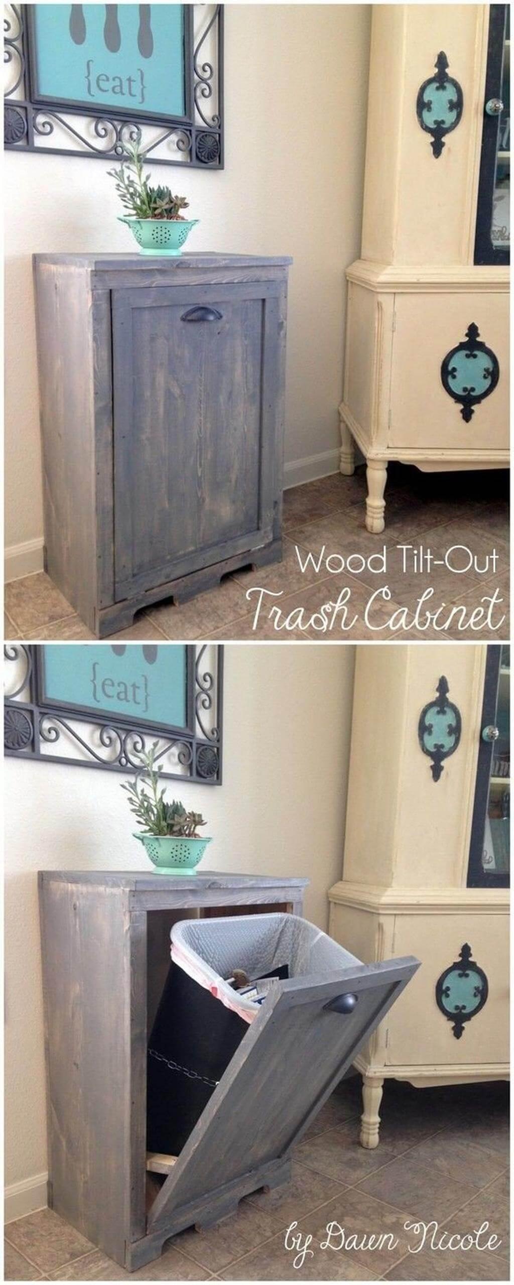 Hide Your Wastebasket in a Cupboard
