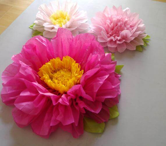 Big and Bold Pink Flower Decorations