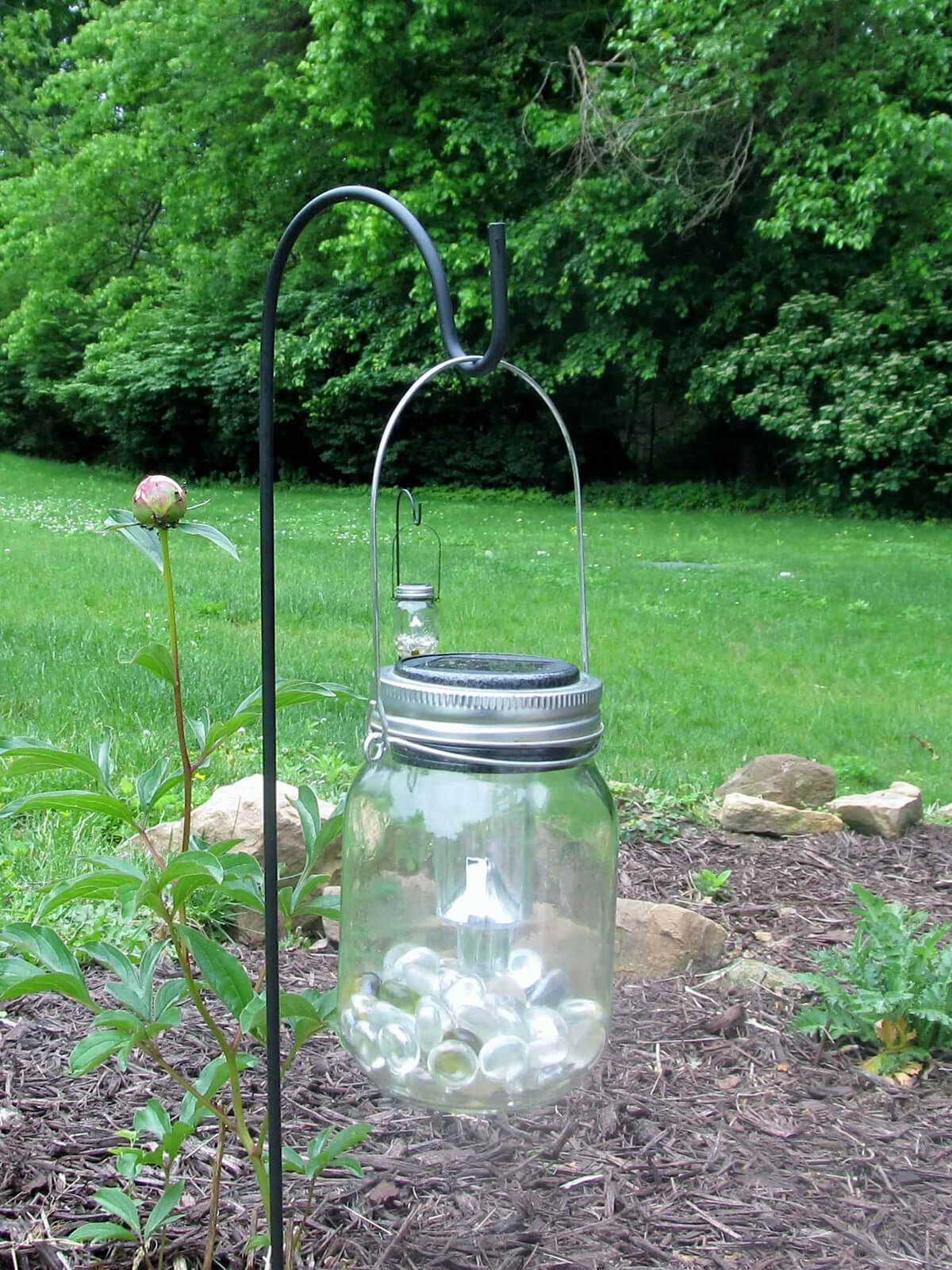 Mason Jar Lanterns with Solar Lights