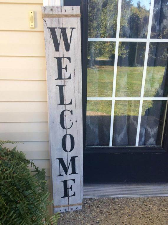 Classic Free Standing Rustic Welcome Sign Homebnc