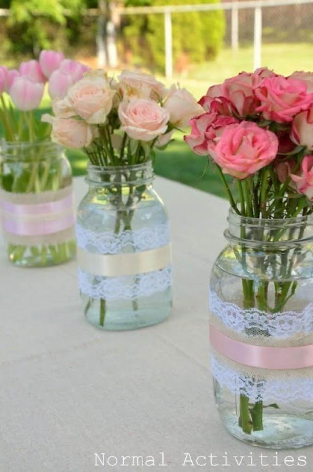 Sweet and Simple Lovely Lace Vase
