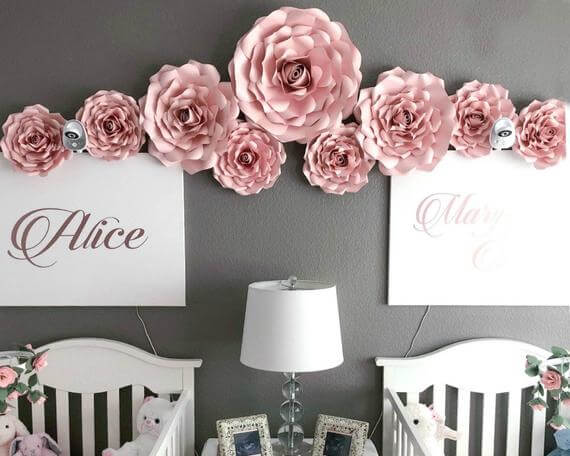 DIY Large Rose Décor Templates
