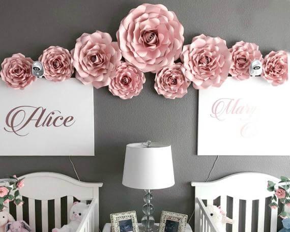 DIY Large Rose Décor Templates