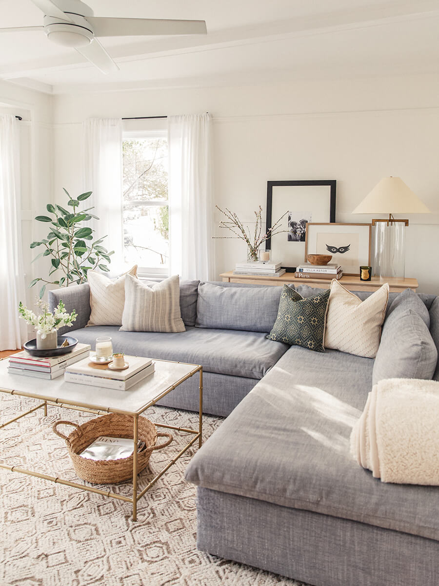 Cozy and Inviting with a Corner Couch
