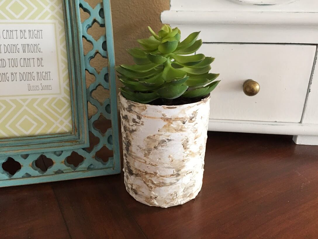 Birch Vase from Scrapbook Paper