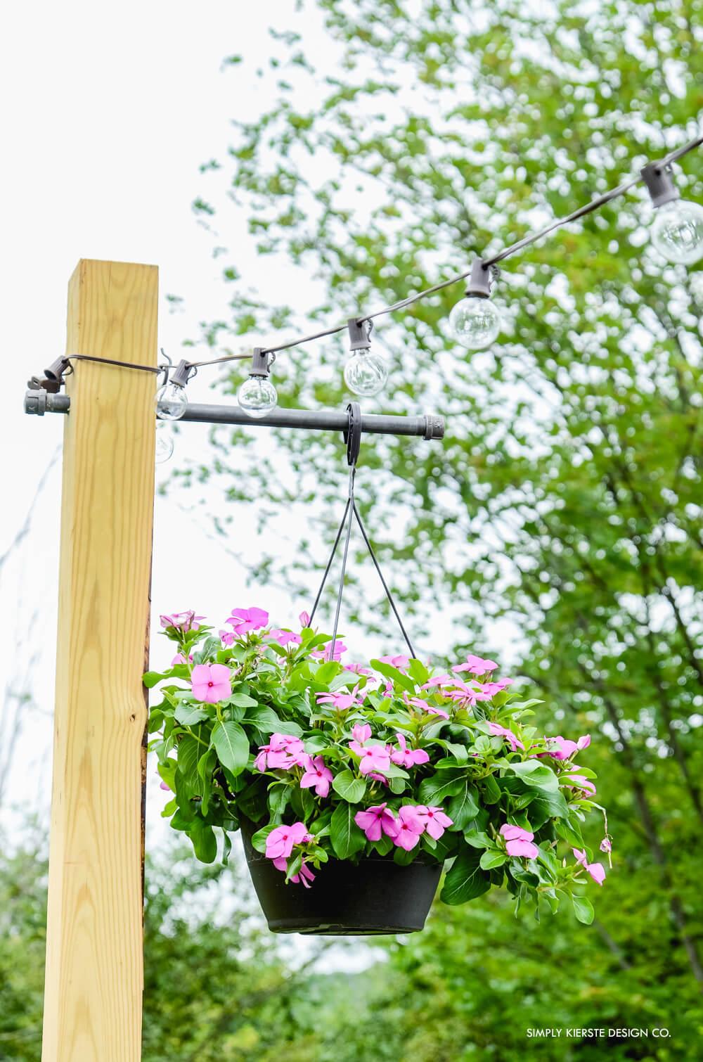 DIY Posts for String Lights & Hanging Plants