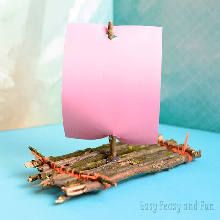 A Fun Twig Boat Craft for Kids