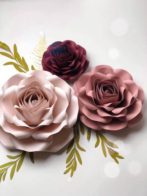 Delicate and Smooth Rose Template