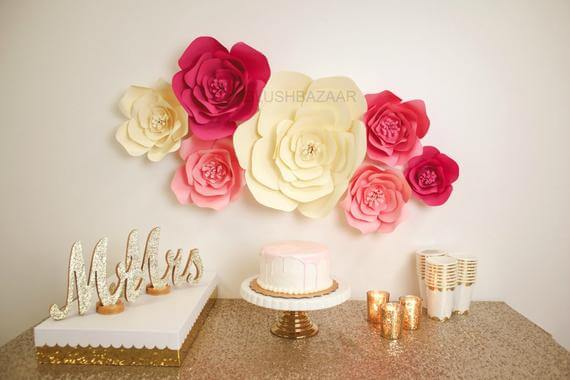 Giant Paper Flower Wall Décor