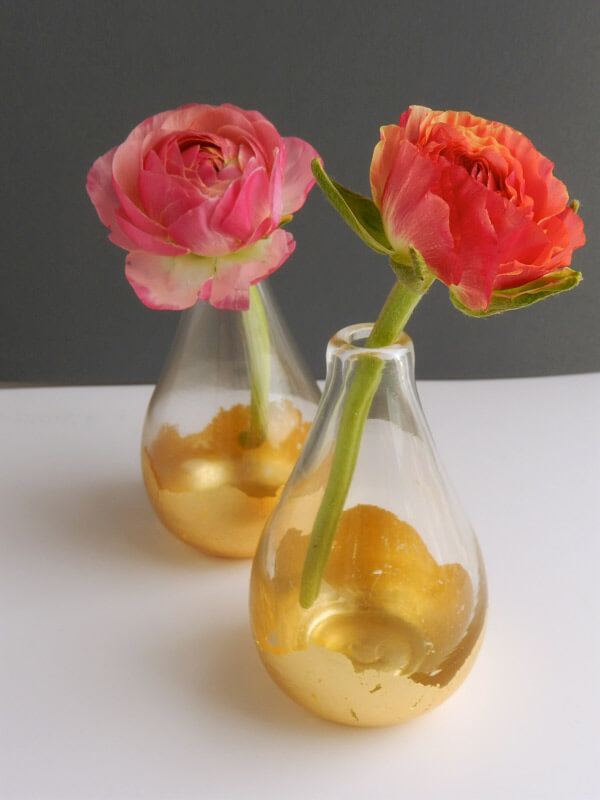 Gold Leaf Kissed Vases