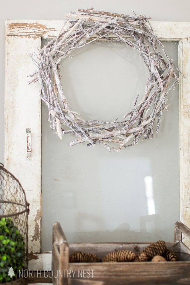 Painted Twig Wreath DIY for Any Season