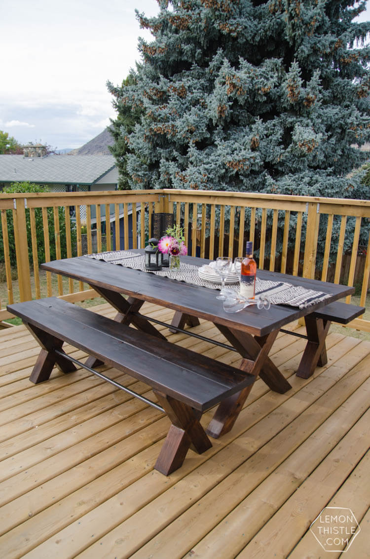 Designer Style DIY Patio Table