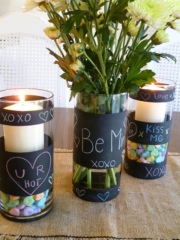 Cute and Playful Chalk Board Vase