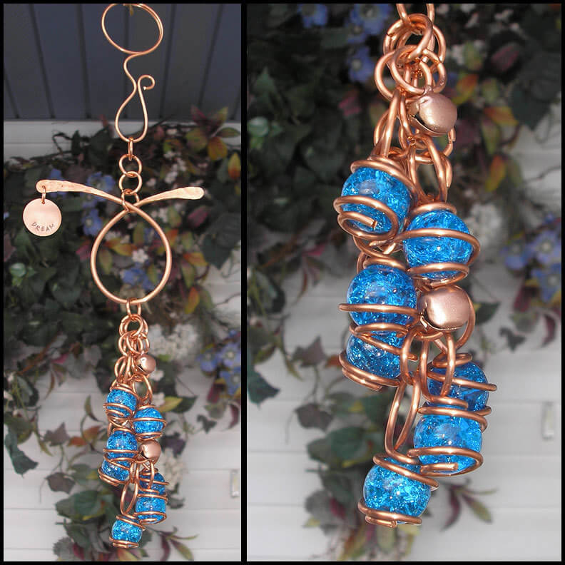 Wound Copper & Glass Wind Chime