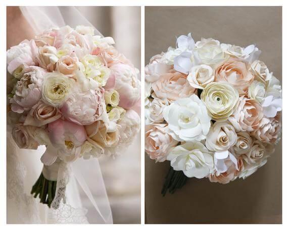 Paper Wedding Bouquet Replica