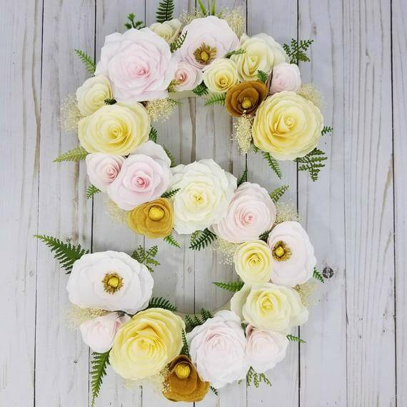 You Initials or Age in Roses