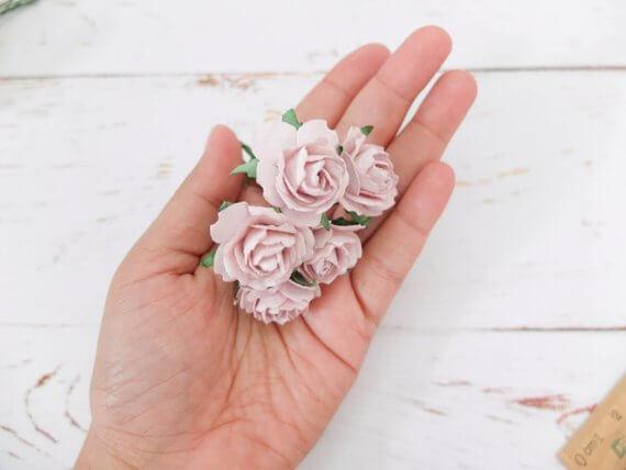 Tiny 1-Inch Mauve Roses
