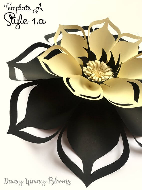 Geometic Template for Stunning Whimsical Flowers