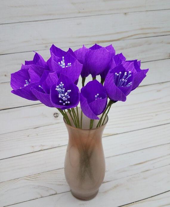 Delicate Crepe Flower Bouquet