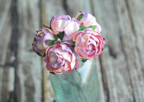 Dainty Bouquet of Lavender and Pink Peonies