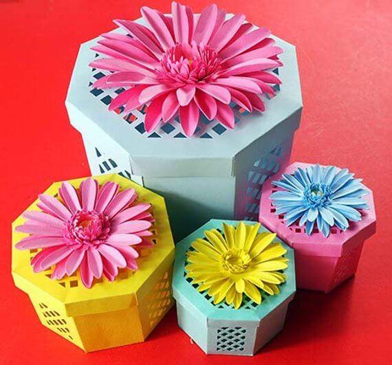 Beautiful Hand-Cut Flower Box