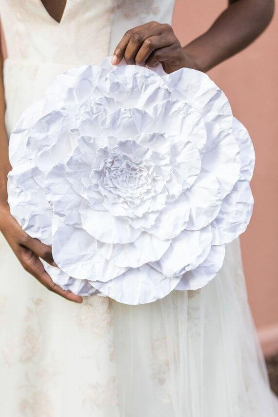 Large Artist Paper Romantic Flower