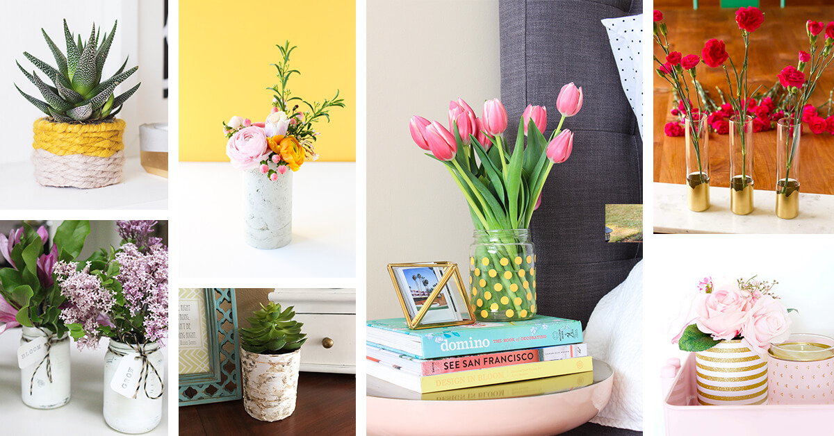 22 Best Diy Flower Vase Ideas And Designs For 2020
