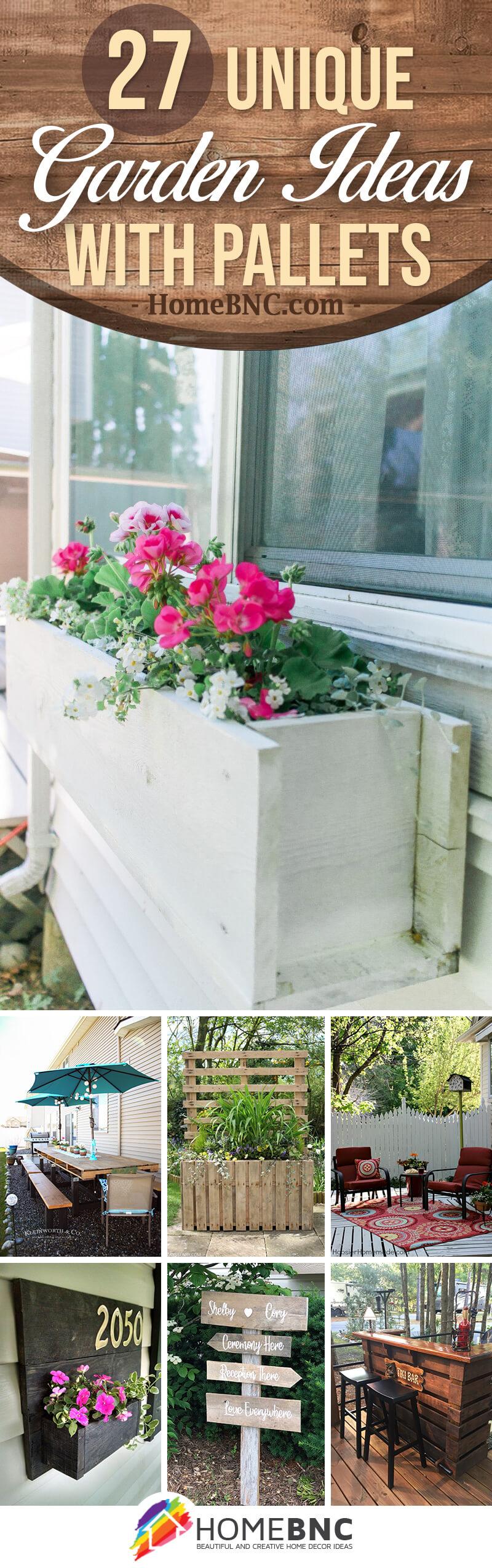 Garden Ideas with Pallets