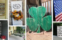 Pallet and Reclaimed Wood Porch Decorations