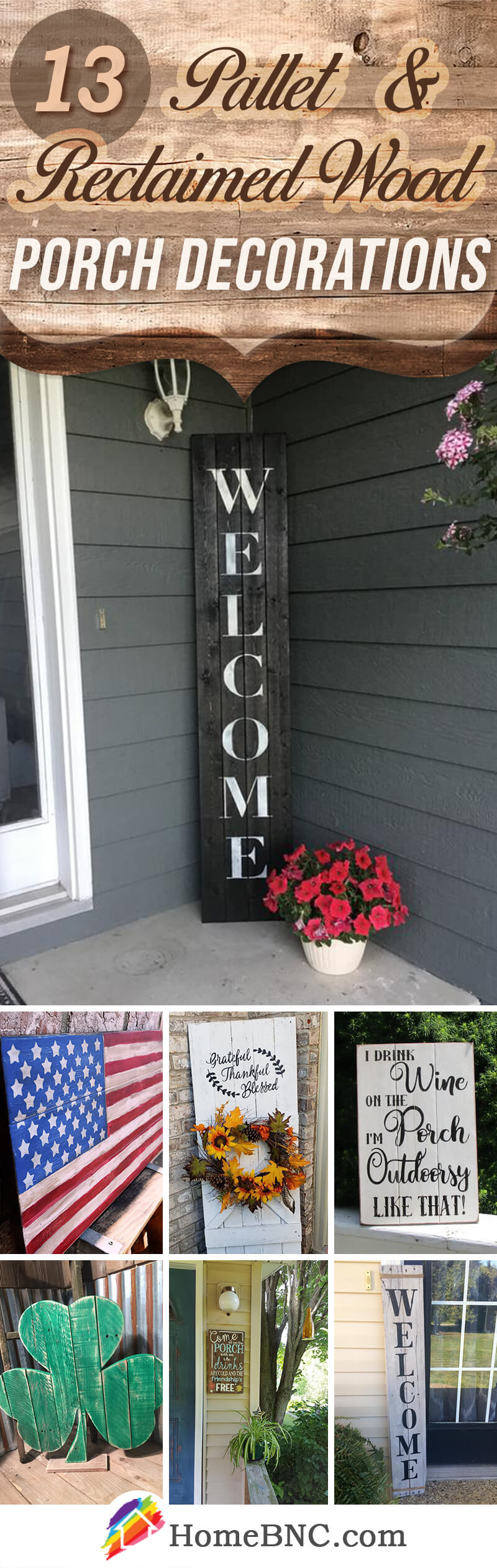 Pallet and Reclaimed Wood Porch Decoration Ideas