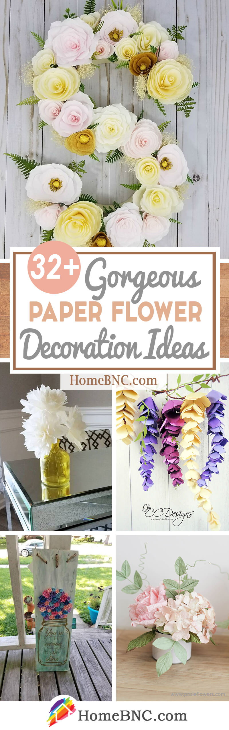 Paper Flower Decoration Ideas