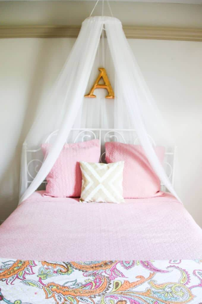 A Feminine Touch with a DIY Canopy Bed