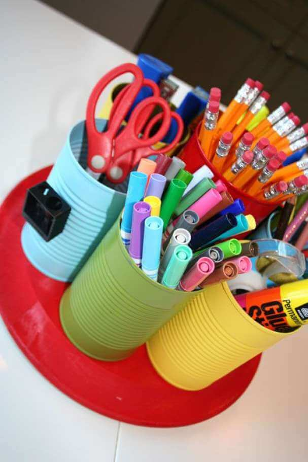 Free Standing Colorful Caddies and Organizers