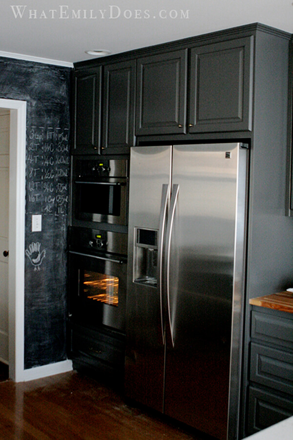Nearly Black Kitchen Cabinet Coloring