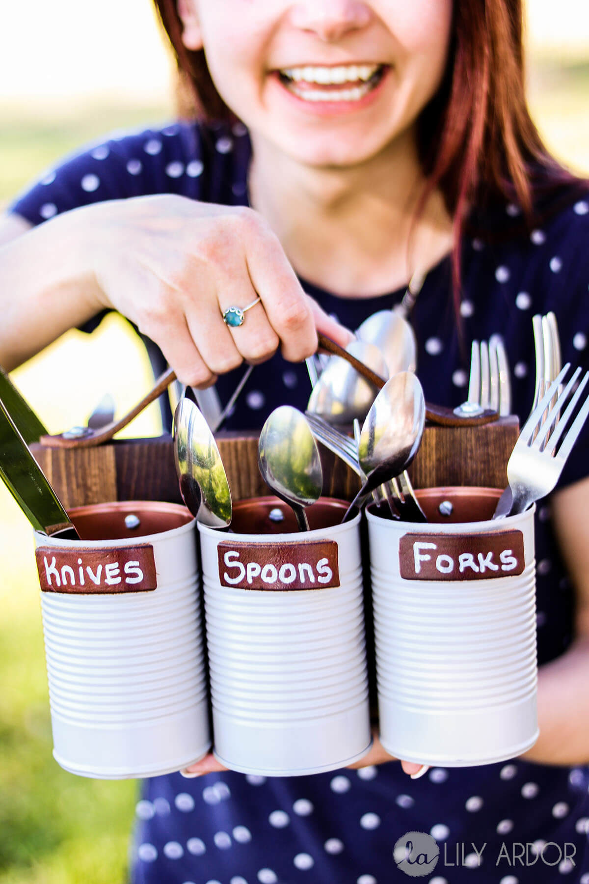 Buffet Style With Portable Silverware Caddies