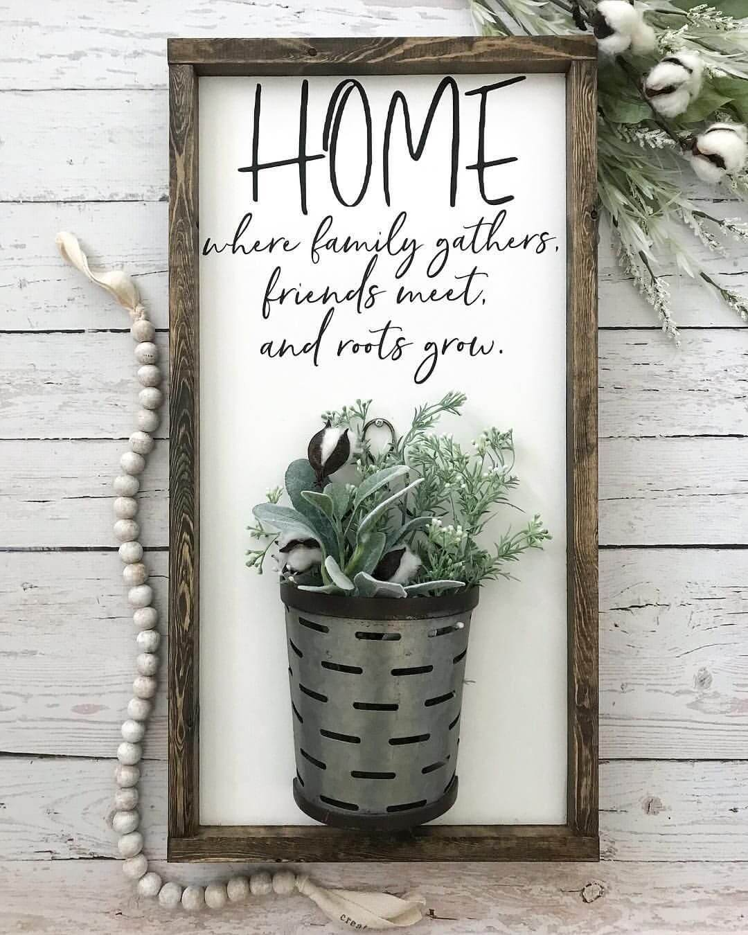 Galvanized Vase Farmhouse Wall Sign