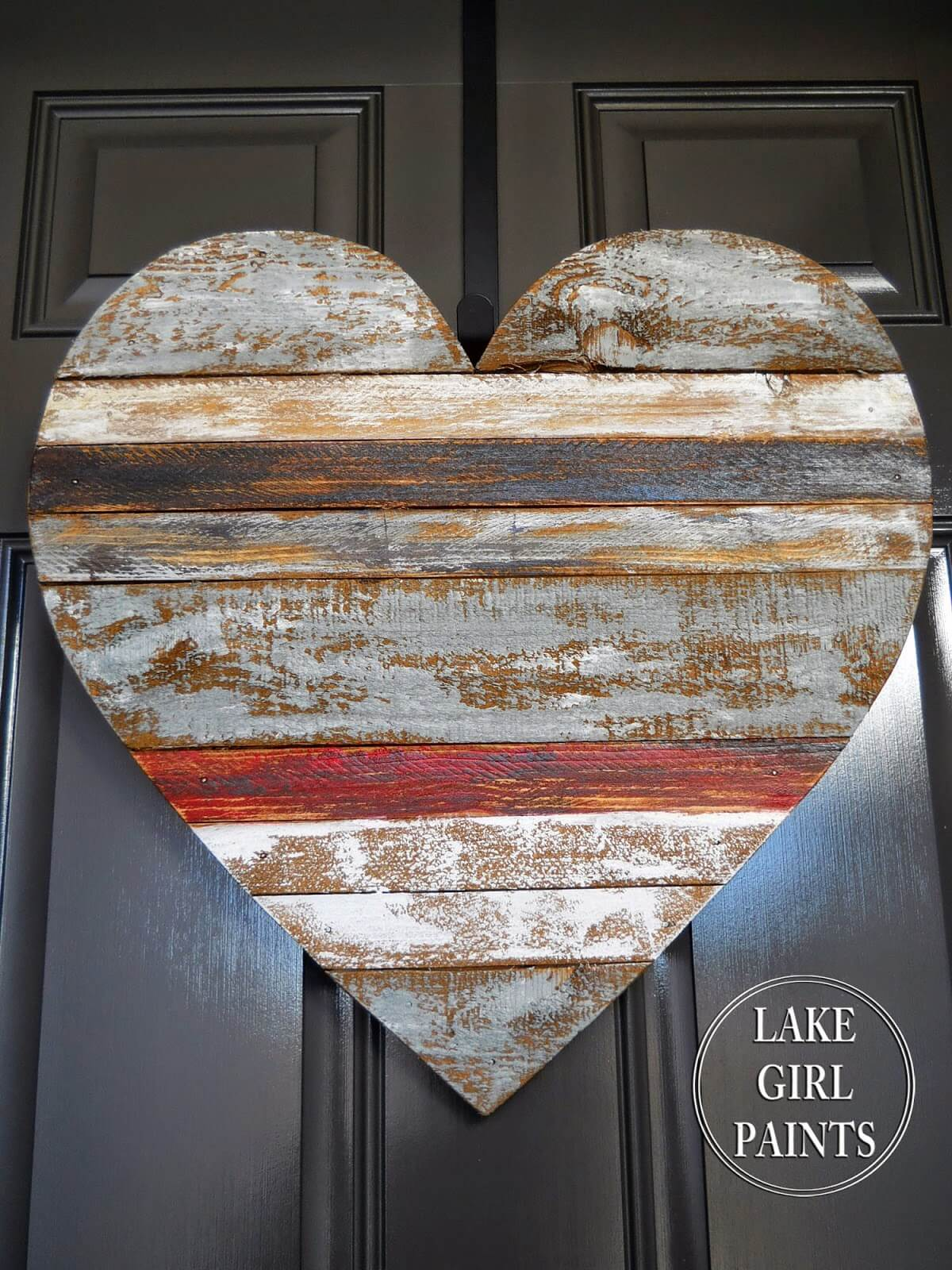 Beautiful and Weathered Multi-Colored Heart