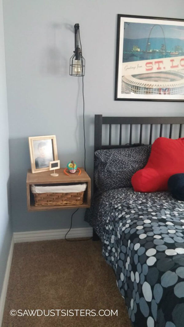Floating Night Stands for Bedroom Organization