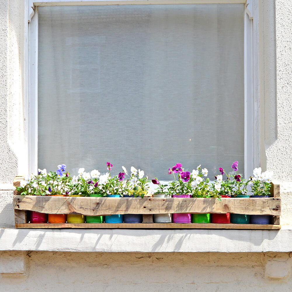 Over the Garden Wall with More Colorful Planters