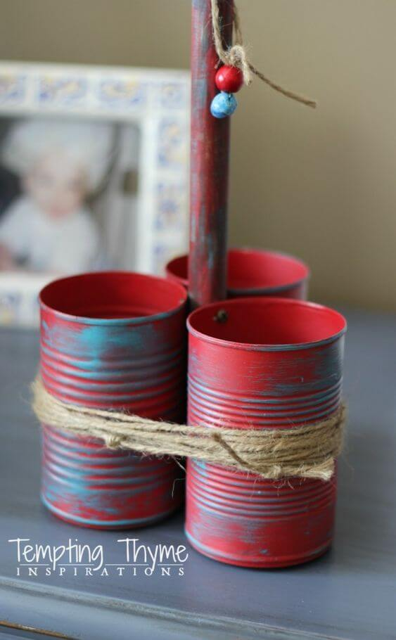 Portable Rustic Outdoor Utensil Caddy