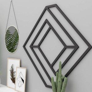 3-D Geometric Metal Home Decor Wall Art