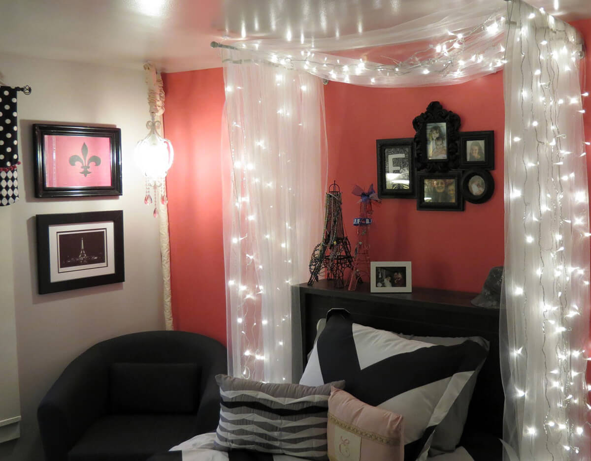 Fairy Light Canopy Perfect for Little Girl's Room
