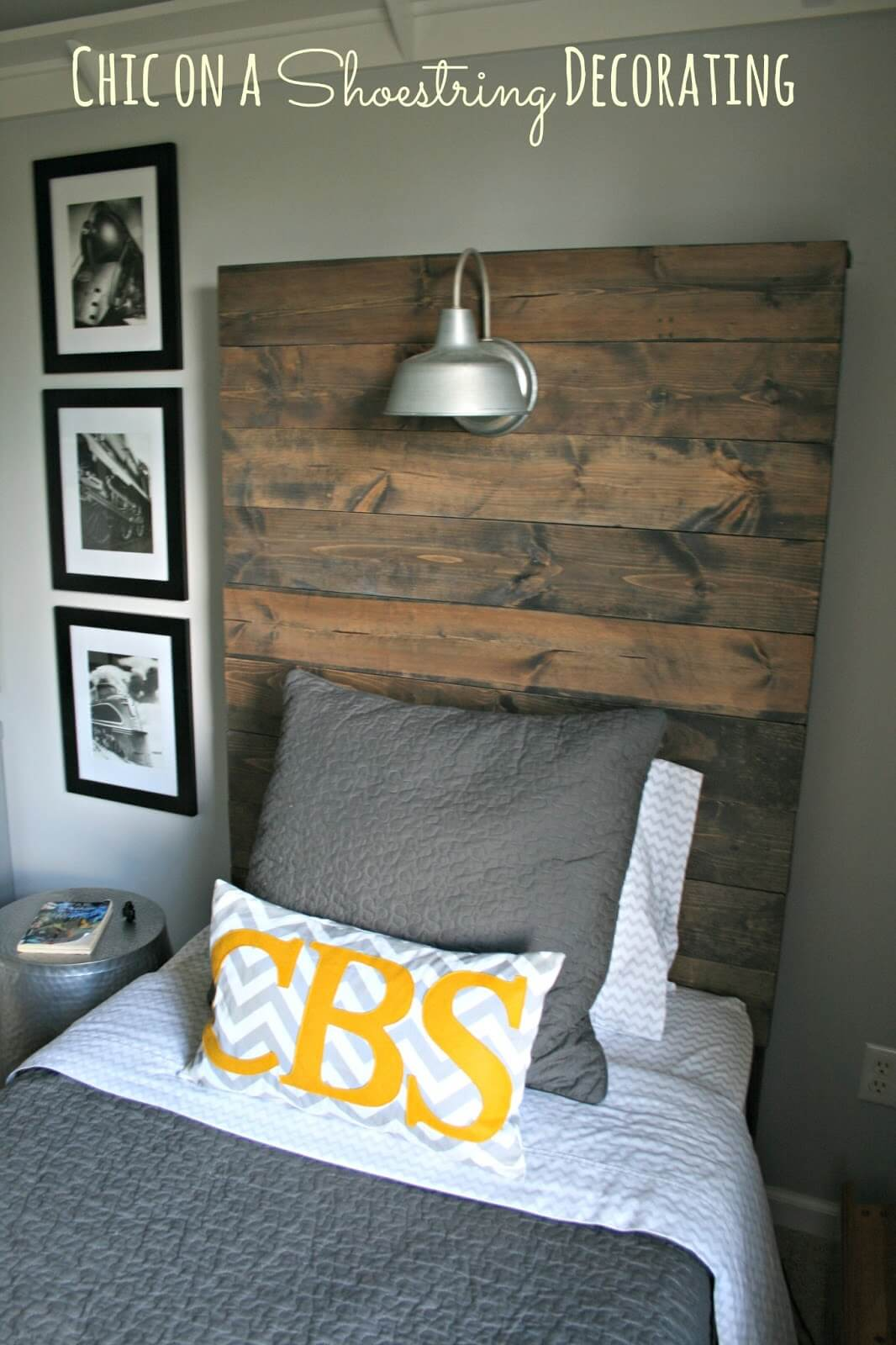 Lighted, Rustic Headboard Weekend Project