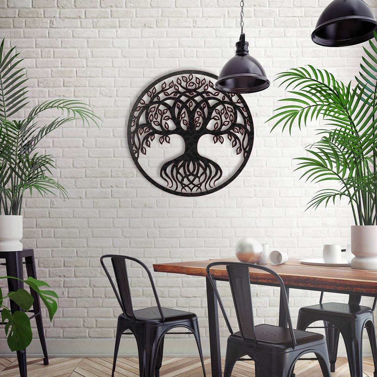 Metal Tree of Life Minimalist Wall Art