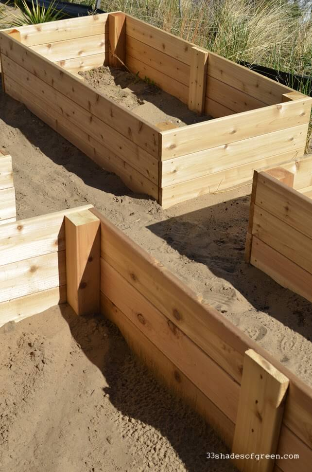 Simple Cedar Raised Garden Boxes