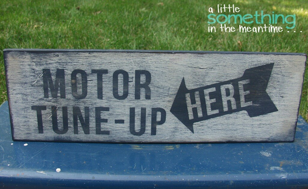 Rustic Up-Cycled Mechanic Sign