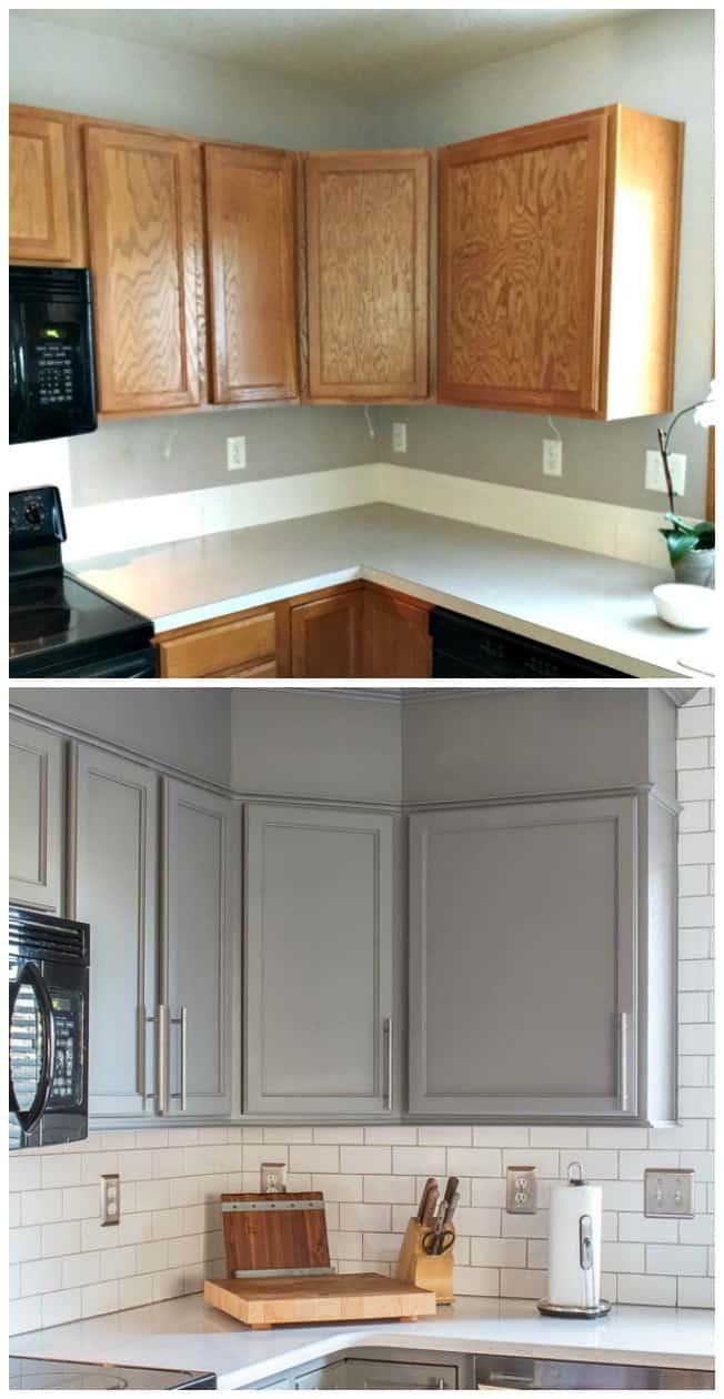 Amazing Steel Gray Cabinet Transformation